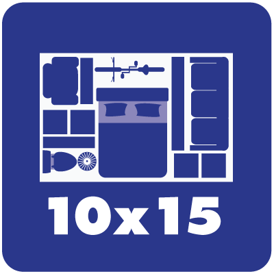 Self storage unit sizes 10 x 15