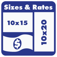 Self storage unit sizes