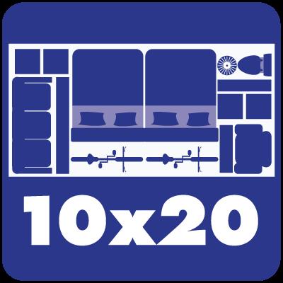 Self storage unit sizes 10 x 20