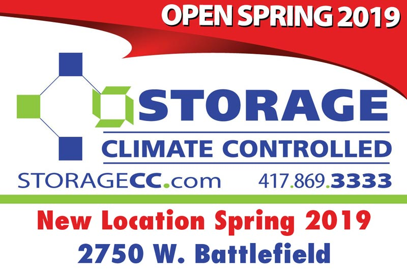 New Storage Climate Controlled Location • Spring 2019 • 2750 W. Battlefield • Springfield, MO