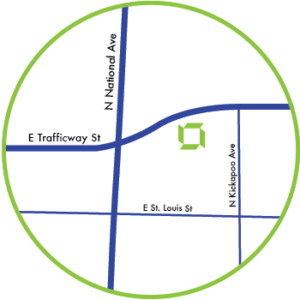 Trafficway Map Circle